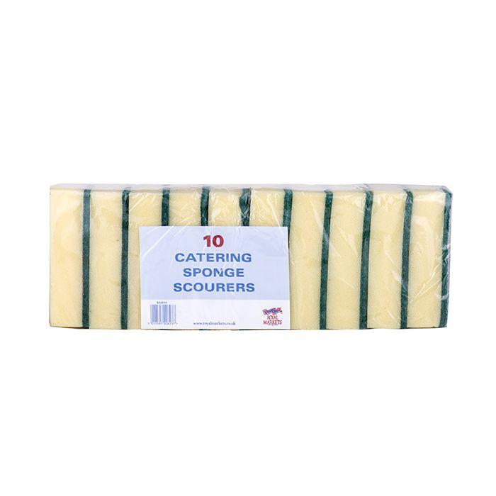 Royal Markets Sponge Scouring Pads  6x4in 14x9.6cm Pk10 C/25