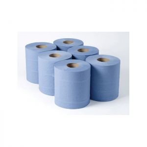 Centrefeed 2ply Blue Embossed C/6 x 120m