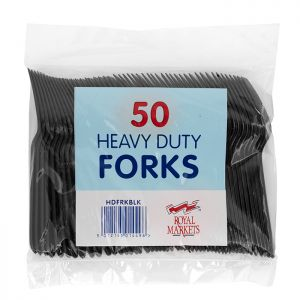 Royal Markets Heavy Duty Forks-Black Pk50 C/20