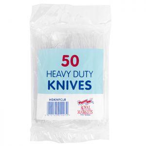 Royal Markets Heavy Duty Clear Knives Pk50 C/20
