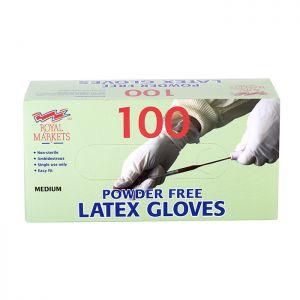 Royal Markets Latex Gloves Box/100 C/10  PFREE Med