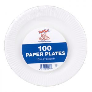 Royal Markets White Paper Plate 6in Pk100 C/10