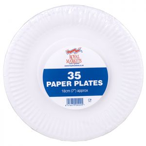 Royal Markets White Paper Plates 7in Pk35 C/28