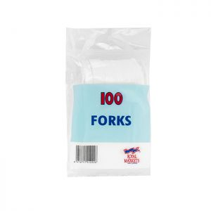 Royal Markets White Forks  Pk100 C/10