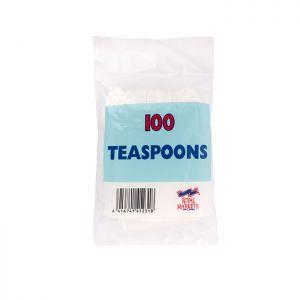 Royal Markets White Teaspoons  Pk100 C/20