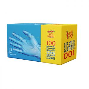 Royal Markets Blue Vinyl Gloves Lge
